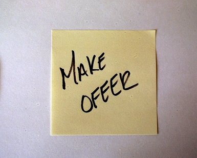Make offer post-it note